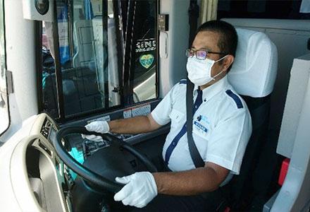 乗務中車内でのマスクの着用